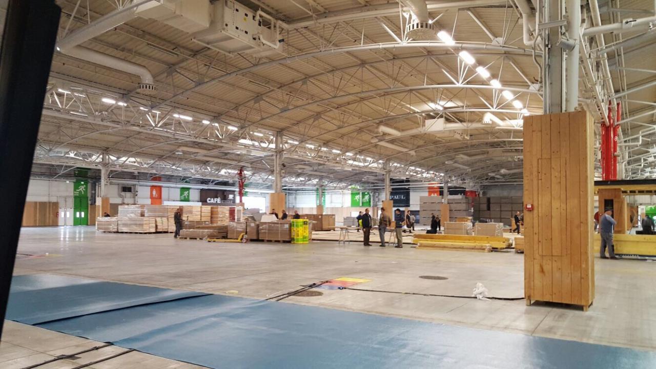Montage EURONAVAL 2016 - Parc des expositions LE BOURGET